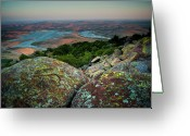 Oklahoma Landscape Greeting Cards - Wichita Mountains in Lawton Greeting Card by Iris Greenwell