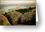 Oklahoma Landscape Greeting Cards - Wichita Mountains in Oklahoma Greeting Card by Iris Greenwell