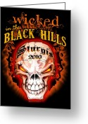 Biker Greeting Cards - Wicked in the Black Hills - Sturgis 2010 Greeting Card by Michael Spano