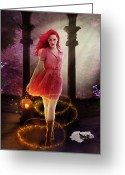 Redhead Greeting Cards - Wicked Greeting Card by Karen Koski