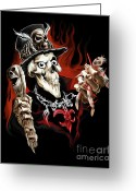 Doll Painting Greeting Cards - Wicked Voodoo Doctor Greeting Card by Michael Spano