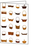 Retro-montage Greeting Cards - Wicker Basket Collection Greeting Card by Olivier Le Queinec