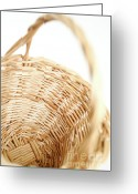 Wicker Basket Greeting Cards - Wicker basket Greeting Card by Gaspar Avila