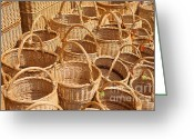 Wicker Baskets Greeting Cards - Wicker Baskets Greeting Card by Boris Suntsov