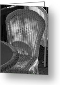 Wicker Chairs Greeting Cards - Wicker Chairs Greeting Card by Robert Ullmann