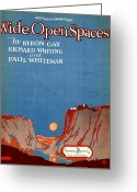 Whiteman Photo Greeting Cards - Wide Open Spaces Greeting Card by Mel Thompson
