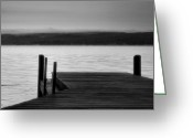 Misty Prints Prints Greeting Cards - Wide Waters Greeting Card by Steven Ainsworth