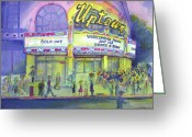 2008 Greeting Cards - Widespread Panic Uptown Theatre  Greeting Card by David Sockrider