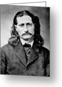 Cards Greeting Cards - Wild Bill Hickok - American Gunfighter Legend Greeting Card by Daniel Hagerman
