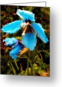 Johnny Trippick Greeting Cards - Wild Blue Flowers of Summer Greeting Card by Johnny Trippick