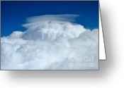 Alto Cumulus Greeting Cards - Wild Blue Greeting Card by Rene Triay