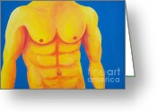 Nudes Males Greeting Cards - Wild Blue Yonder Greeting Card by Randall Weidner