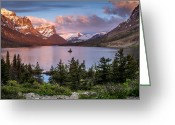 Wild Goose Greeting Cards - Wild Goose Island Morning 1 Greeting Card by Greg Nyquist