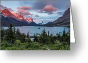 Wild Goose Greeting Cards - Wild Goose Island Overlook at Dawn Greeting Card by Greg Nyquist