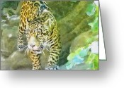 Leopards Greeting Cards - Wild in Spirit Greeting Card by Jeff Kolker