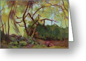 Byzantine Greeting Cards - Wild Rabbit Woods Greeting Card by Bruce Zboray