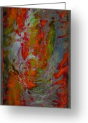 Lacy Abstract Greeting Cards - Wild Ride Greeting Card by Anne Lacy
