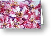 Most Painting Greeting Cards - Wild rose Greeting Card by Zaira Dzhaubaeva