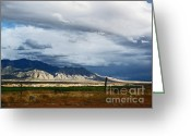 Mountains New Mexico Greeting Cards - Wild Sandia Countryside Greeting Card by Andrea Hazel Ihlefeld