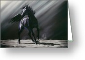 Horse Art Pastels Greeting Cards - Wild Spirit Greeting Card by Kim McElroy