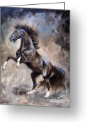 Wild Horse Painting Greeting Cards - Wild Thing Greeting Card by Jeanne Newton Schoborg