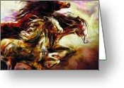 Mustang Greeting Cards - Wild Things Greeting Card by Mike Massengale
