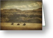 Western Canada Landscape Art Greeting Cards - Wild Wild West Greeting Card by Roberta Murray