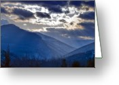 Purple Clouds Greeting Cards - Wild Wonderful West Virginia Greeting Card by Brendan Reals