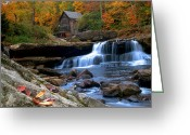 The Glade Greeting Cards - wild wonderful WV Glade Creek Greeting Card by Randall Branham