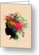 \\\\hair Color\\\\ Greeting Cards - Wildchild Greeting Card by Budi Satria Kwan