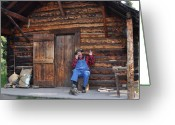 Overalls Greeting Cards - Wilderness Cabin Alaska Greeting Card by Jennifer Crites