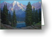 Four Corners Greeting Cards - Wilderness Light Greeting Card by Randy Follis