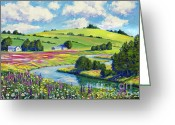 Recommended Greeting Cards - Wildflower Fields Greeting Card by David Lloyd Glover