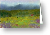 House Pastels Greeting Cards - Wildflowers Greeting Card by David Patterson