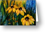 Susan Greeting Cards - Wildflowers Greeting Card by Larry Martin