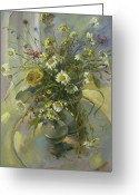 Drapery Greeting Cards - Wildflowers Greeting Card by Tigran Ghulyan