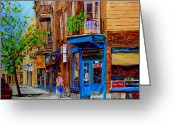 Store Fronts Greeting Cards - Wilenskys Diner And Snack Bar Greeting Card by Carole Spandau