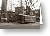 Trolley Greeting Cards - Wilkes Barre PA Public Square Oct 1940 Greeting Card by Arthur Miller