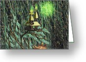 Luminescence Greeting Cards - Will OThe Wisp Greeting Card by Ian Anderson
