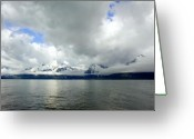 Snow Capped Digital Art Greeting Cards - Will the Clouds Ever Go Away Greeting Card by Amanda Kiplinger