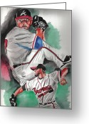 Sports Art Painting Greeting Cards - Will Wagner Greeting Card by Torben Gray