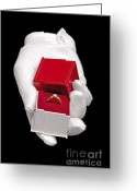 Giving Greeting Cards - Will you marry me Greeting Card by Richard Thomas