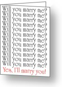 Marry Greeting Cards - Will You Marry Me Yes Ill Marry You Greeting Card by Andee Photography