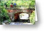 Central Park Photo Greeting Cards - Will you take my hand forever Greeting Card by Julie Lueders 