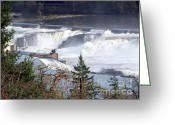 Wild Rivers Greeting Cards - Willamette Falls Greeting Card by Charles Robinson
