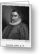 Skullcap Greeting Cards - William Ames (1576-1633) Greeting Card by Granger