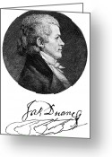 Autograph Greeting Cards - William Duane (1760-1835) Greeting Card by Granger