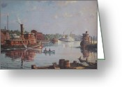 River Scenes Greeting Cards - William G Muller Rondout Creek Greeting Card by Jake Hartz