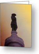 Cityhall Greeting Cards - William Penn Greeting Card by Bill Cannon