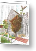 Los Angeles Painting Greeting Cards - William-S-Harts-Home Greeting Card by Carlos G Groppa